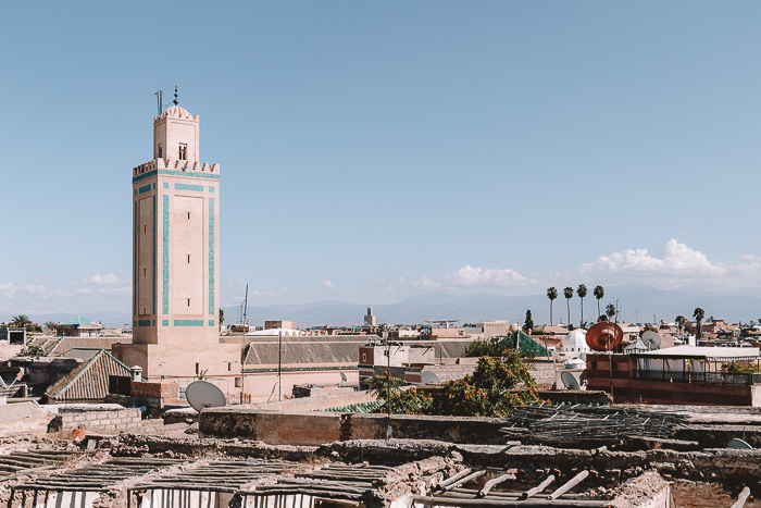 Morocco travel guide Marrakesh view from Atay Cafe Food by Dancing the Earth