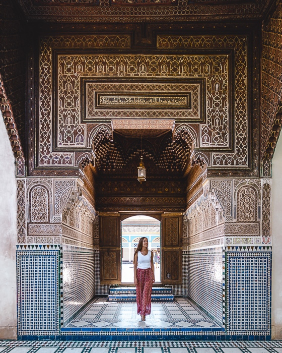 Morocco travel guide Marrakesh Bahia Palace door by Dancing the Earth