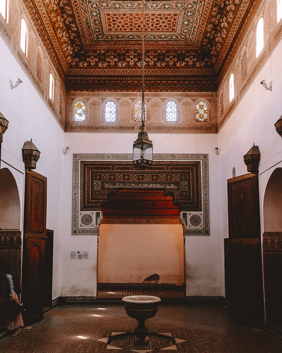 Morocco travel guide Marrakesh one room of Bahia Palace by Dancing the Earth