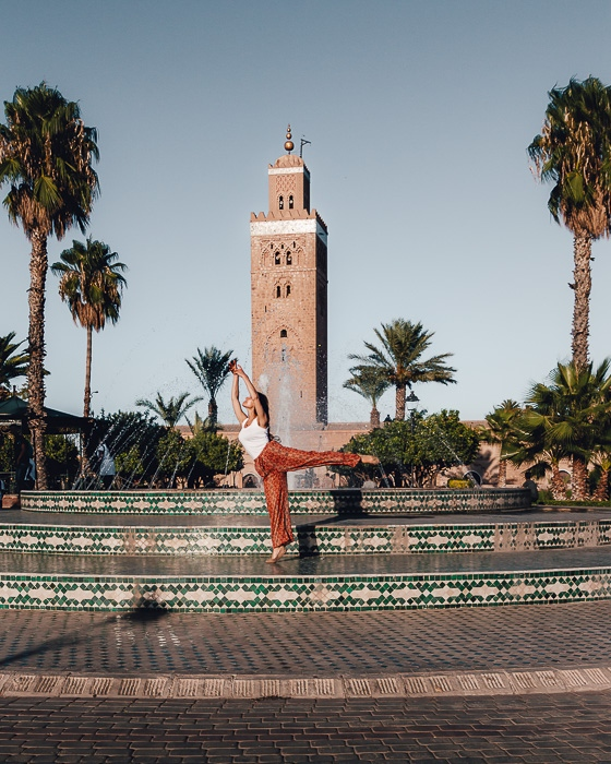Morocco travel guide Marrakesh Koutoubia Mosque minaret by Dancing the Earth
