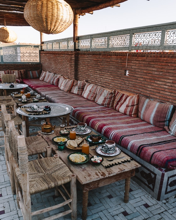 Morocco travel guide Marrakesh Ksar Kasbah riad breakfast by Dancing the Earth