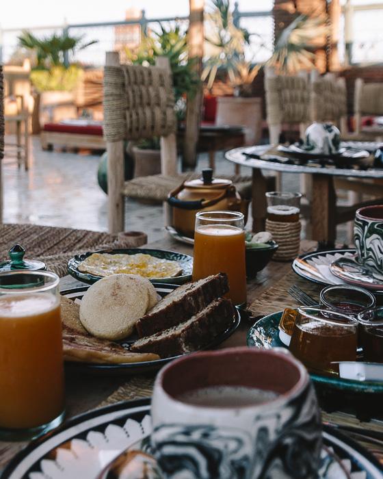 Breakfast detail at riad Ksar Kasbah by Dancing the Earth