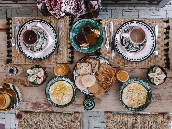 Breakfast at riad Ksar Kasbah by Dancing the Earth