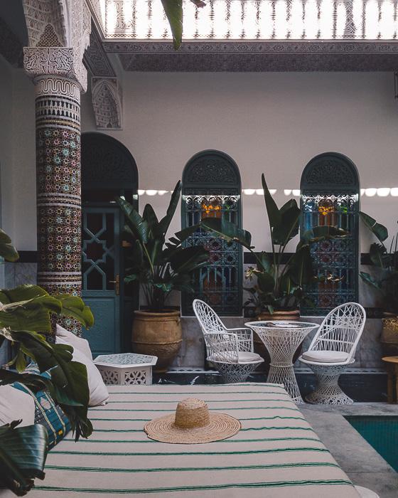 Morocco travel guide Marrakesh Ksar Kasbah riad sofa by Dancing the Earth