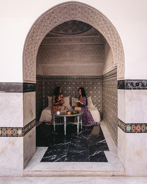 Morocco travel guide Marrakesh Ksar Kasbah riad tea room by Dancing the Earth