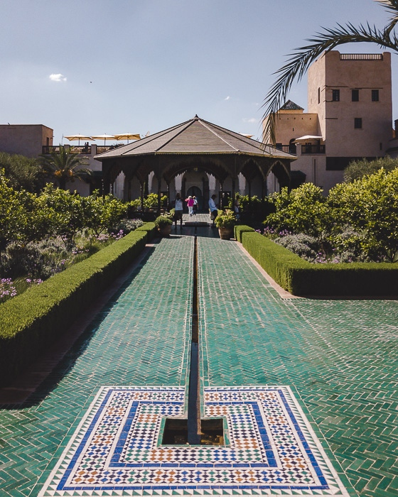 Entrance of the secret garden in Marrakesh by Dancing the Earth