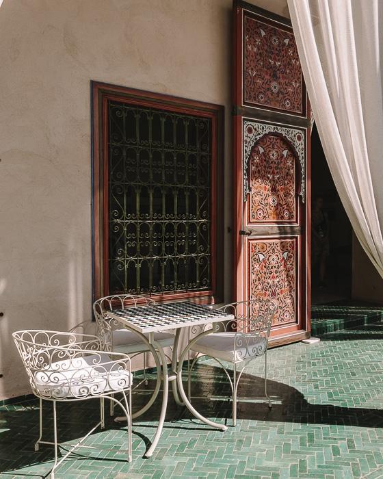 Morocco travel guide Marrakesh Secret garden door by Dancing the Earth