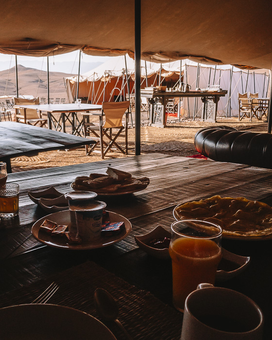 Breakfast at Scarabeo Camp by Dancing the Earth