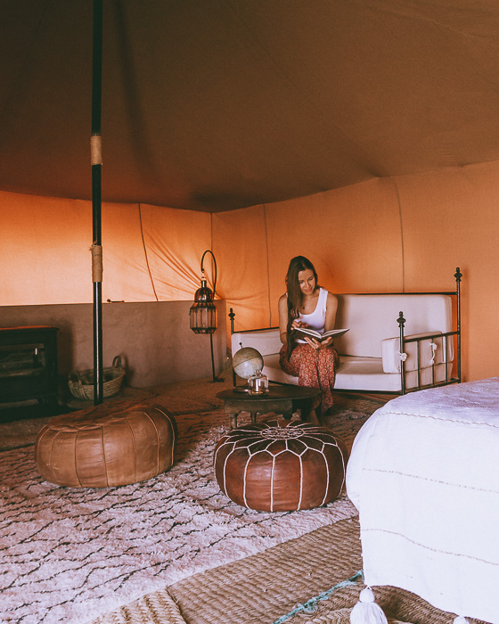 Morocco travel guide Scarabeo Camp tent by Dancing the Earth