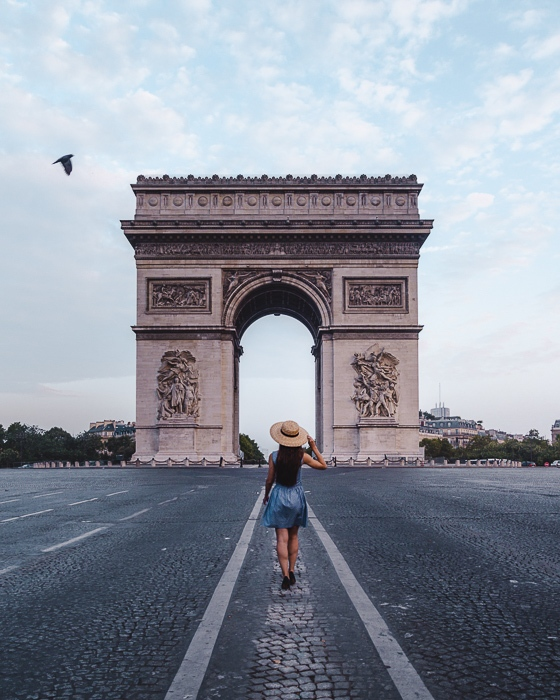 Summer in Paris Arc de Triomphe by Dancing the Earth
