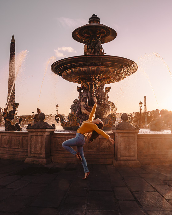 Sunset in Place de la Concorde by Dancing the Earth