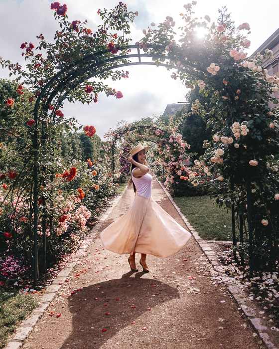 Summer in Paris roses archs in Jardin des Plantes by Dancing the Earth