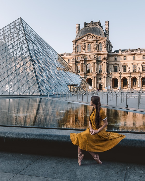Paris in Summer Louvre Museum by Dancing the Earth