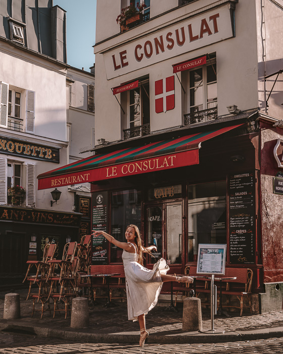Paris in Summer Montmartre le Consulat by Dancing the Earth