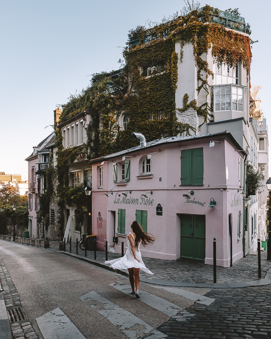 Paris in Summer Montmartre Maison Rose by Dancing the Earth
