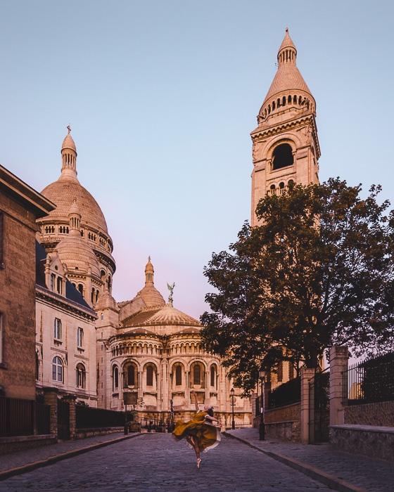 Paris in Summer Montmartre Sacre Coeur sunrise by Dancing the Earth