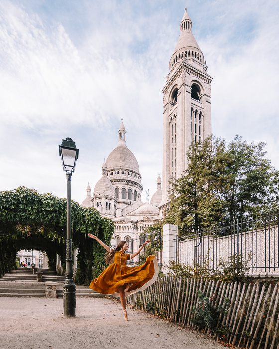 Paris in Summer Montmartre behind the Sacre Coeur by Dancing the Earth