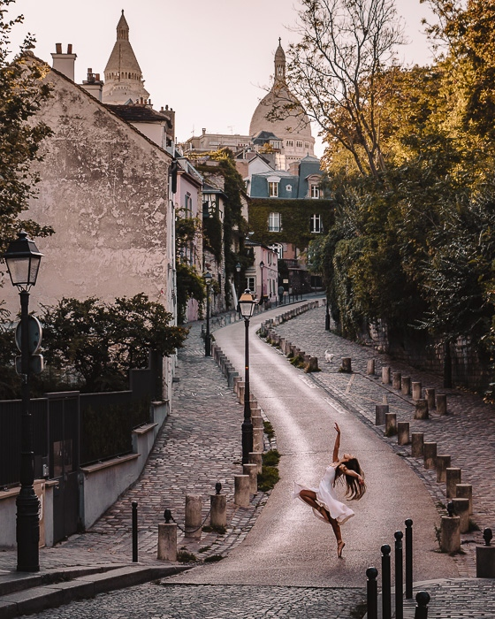 Paris in Summer Montmartre rue de l'Abreuvoir by Dancing the Earth
