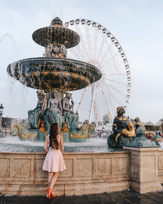 Summer in Paris Place de la Concorde fountains by Dancing the Earth