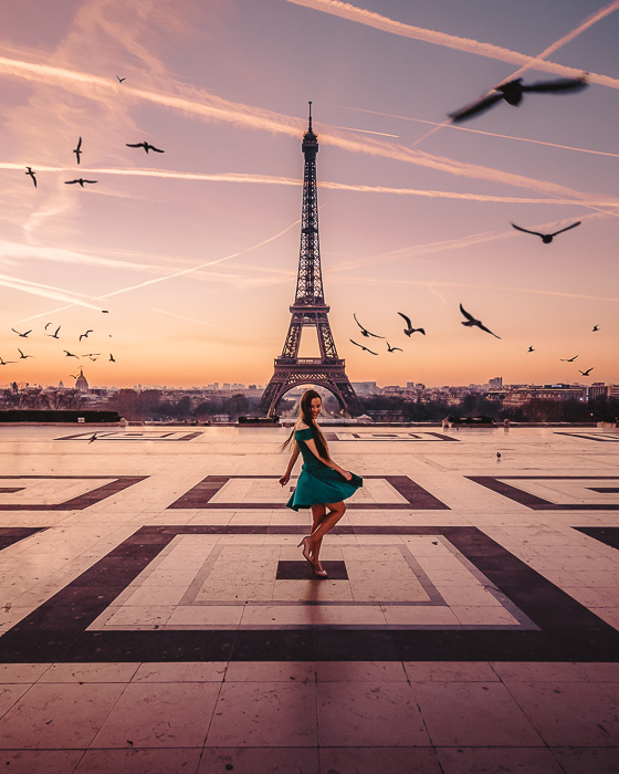 Sunrise in Trocadero by Dancing the Earth
