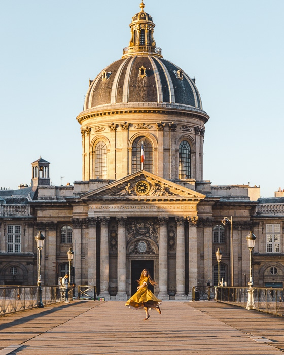 Institut de France from Pont des Arts by Dancing the Earth
