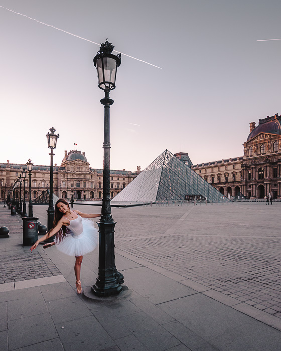 Paris Winter sunrise at the Louvre by Dancing the Earth