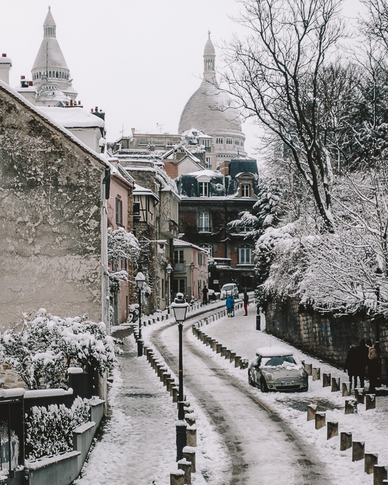Snow in Montmartre by Dancing the Earth