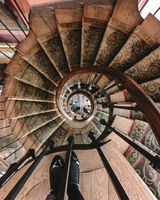 Gustave Moreau museum staircases spiral by Dancing the Earth