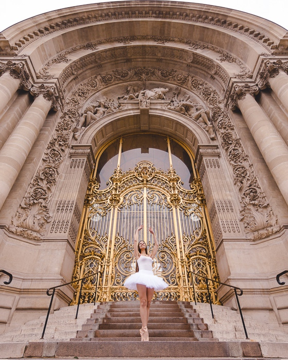 Paris Winter Petit Palais golden door by Dancing the Earth