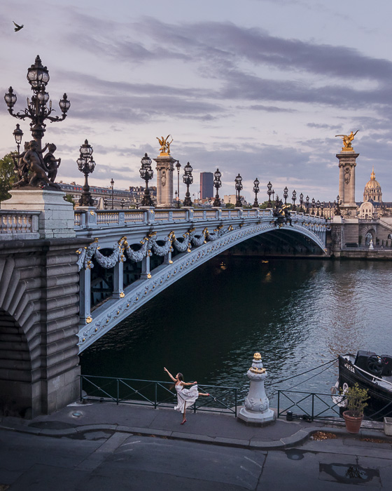 Paris Winter Pont Alexandre 3 view on the quays by Dancing the Earth