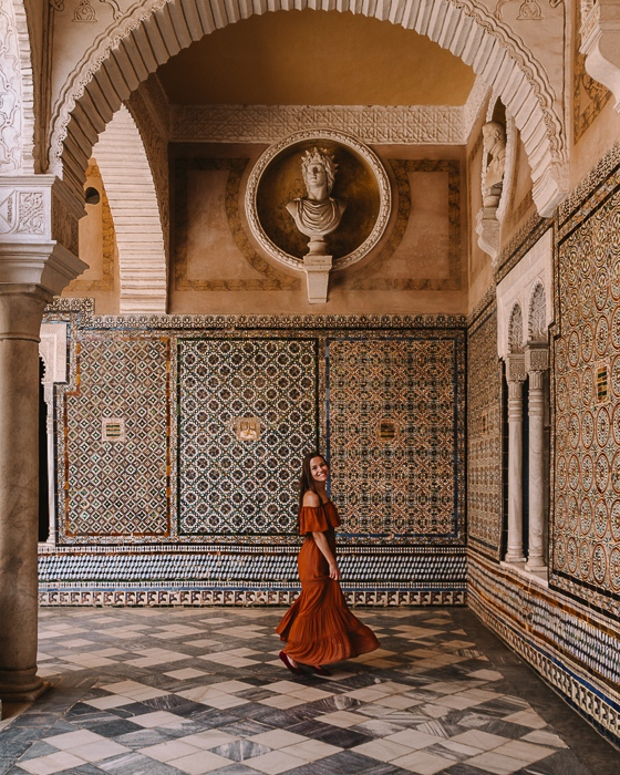 Seville Casa de Pilatos tiles by Dancing the Earth