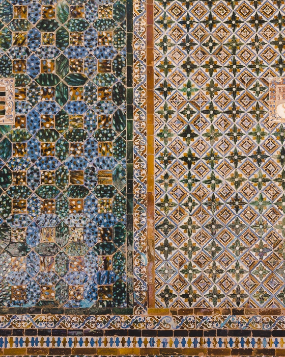 Casa de Pilatos tiles details by Dancing the Earth