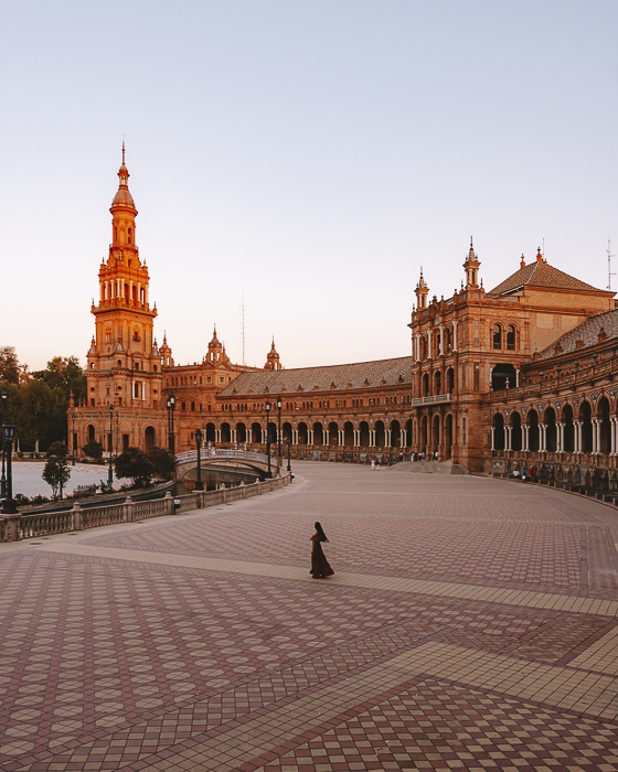 Seville bird view of Plaza de Espana by Dancing the Earth