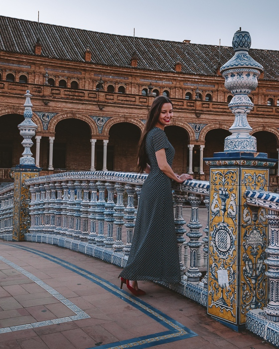 Seville Plaza de Espana bridge by Dancing the Earth