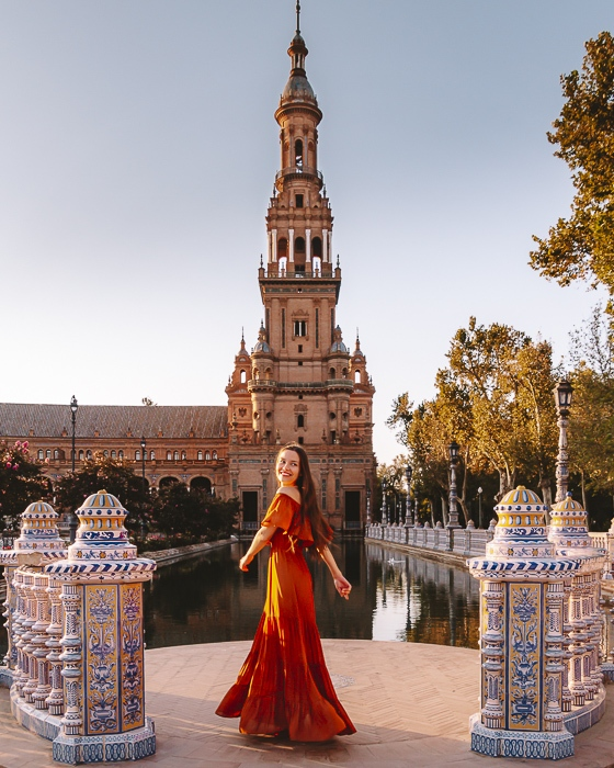 Seville Plaza de Espana tower by Dancing the Earth