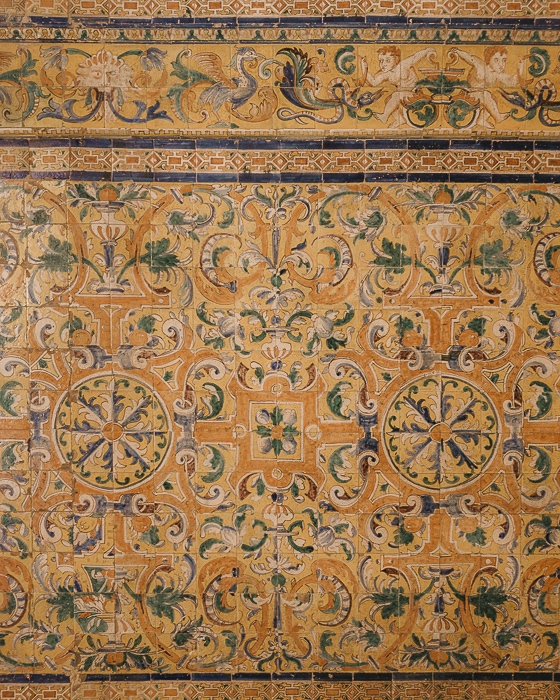 Seville Real Alcazar tiles details by Dancing the Earth