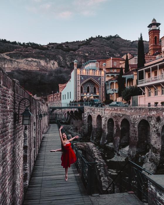 Tbilisi Abanotubani blue hour by Dancing the Earth