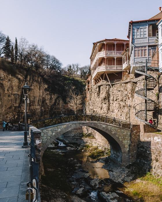 Tbilisi Abanotubani bridge by Dancing the Earth