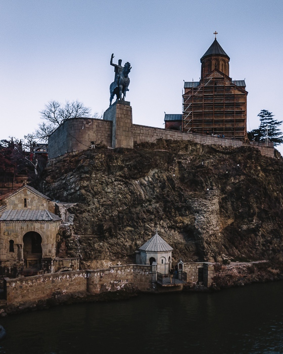 Tbilisi King Vakhtang Gorgasali statue by Dancing the Earth