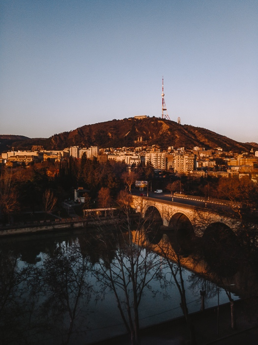 Tbilisi view from Moxy Hotel by Dancing the Earth