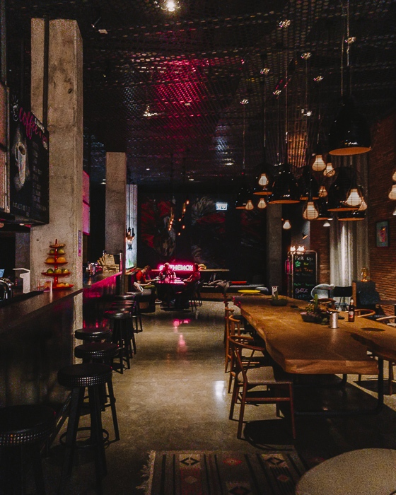 Tbilisi Moxy hotel bar by Dancing the Earth
