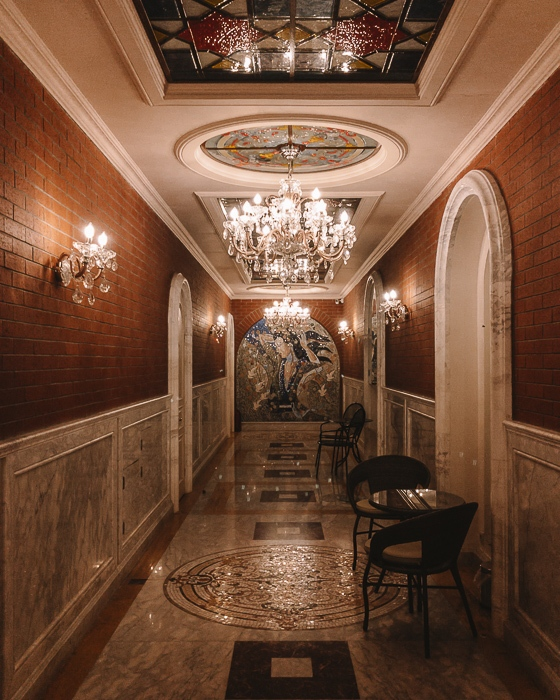Orbeliani Baths interior hall by Dancing the Earth