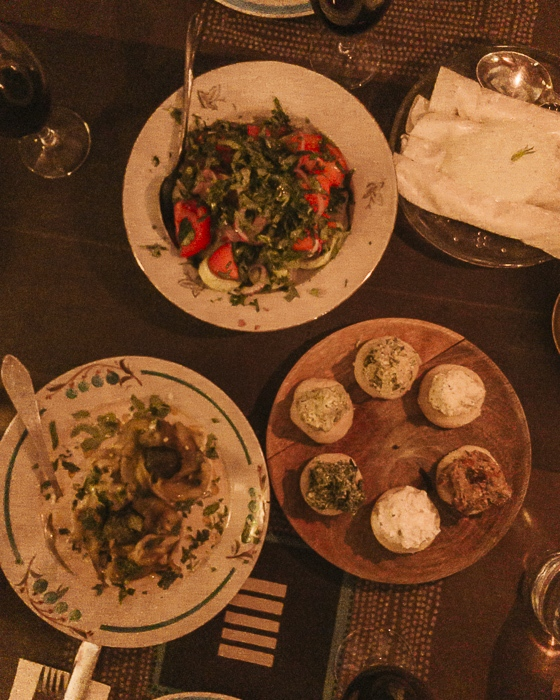 Tbilisi Shavi Lomi dishes by Dancing the Earth