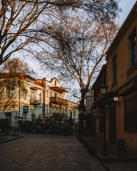 Tbilisi old town street by Dancing the Earth