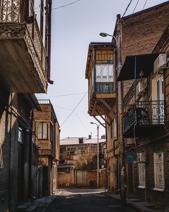 Tbilisi old town balconies by Dancing the Earth