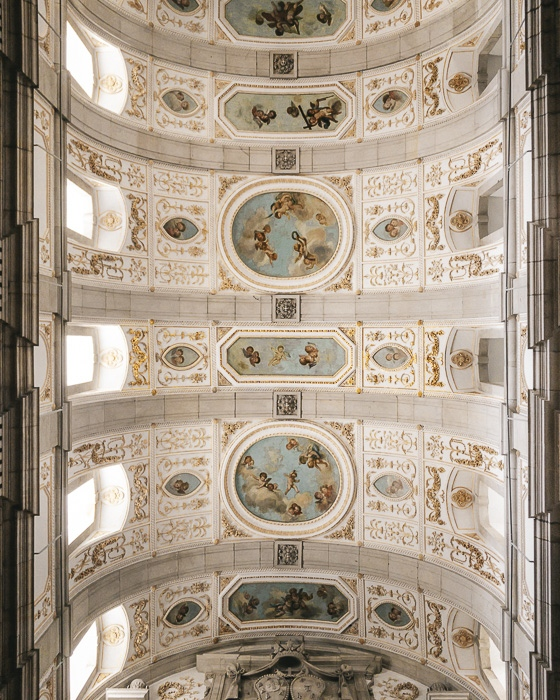 Porto weekend itinerary ceiling inside Igreja de Sao Francisco by Dancing the Earth