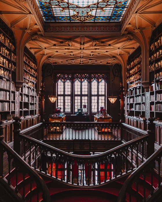 Porto weekend itinerary Inside Livraria Lello by Dancing the Earth
