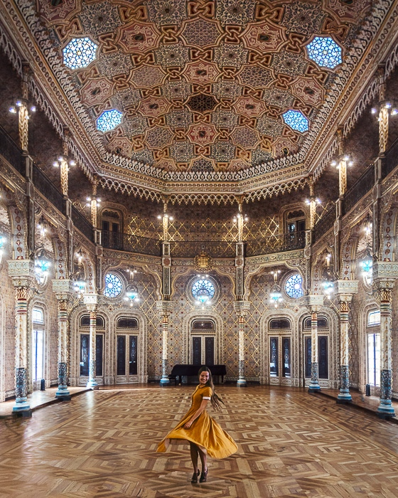 Porto weekend itinerary Arab room by Dancing the Earth