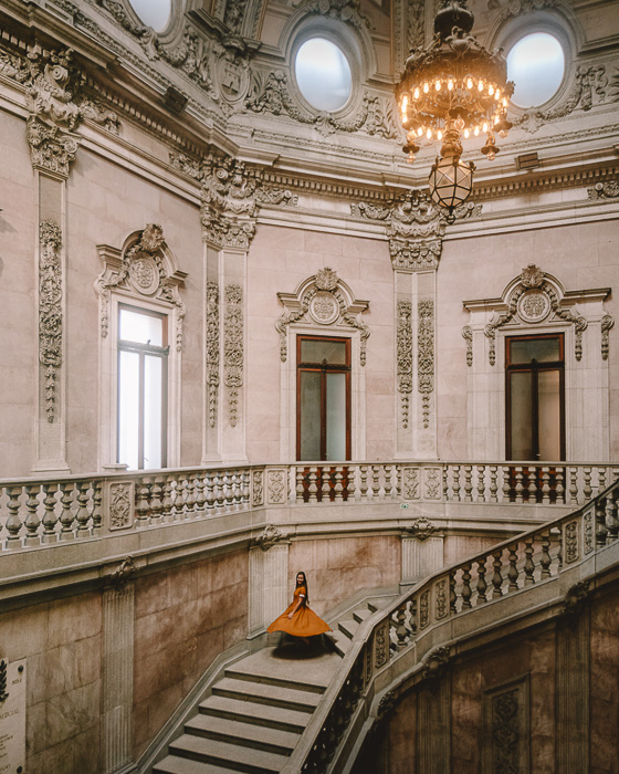 Porto weekend itinerary Staircases of Palacio da Bolsa by Dancing the Earth