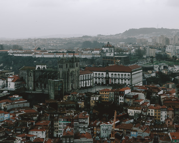 View of the cathedral from Torre dos Clerigos by Dancing the Earth